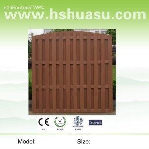 деревянный пластичный составной wpc забор