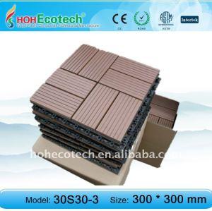 Plástico jardim da telha, telhas de assoalho de plástico decking do jardim/telha eco- friendly wood plastic composite