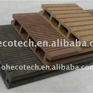 Niza diseño ranurado wpc compuesto plástico de madera decking/suelo cubierta de placas