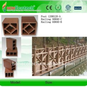 wpc outdoor decking , railing(ISO9001,ISO14001,ROHS,CE)