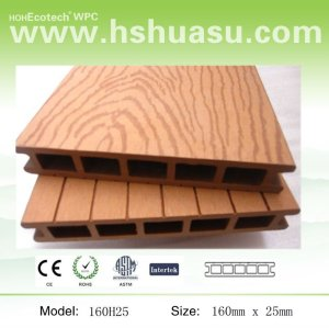 Outdoor Decking Made by Wood and Plastic