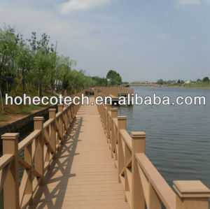 Bridge/ Swimming pool flooring/decking Waterproof wpc composite decking /flooring