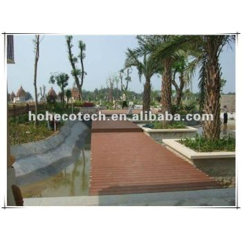 Outdoor terrence decking recycled plastic wood plank flooring
