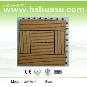 Wood-Plastic Composite DIY Tile