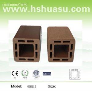 compuesto plástico de madera barandilla