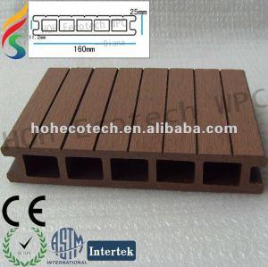 plancher composé de decking composé en plastique en bois respectueux de l'environnement de WPC