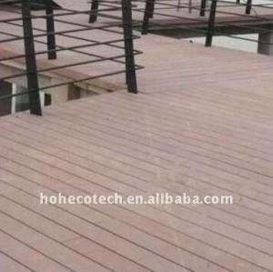 Le decking composé en plastique en bois wpc matériel respectueux de l'environnement bon de conception de nouveau couvre de tuiles le decking de vinyle