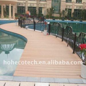 Decking de wpc projet- huasu wpc platelage composite bois plastique nouvelle technologie planches planche de terrasse
