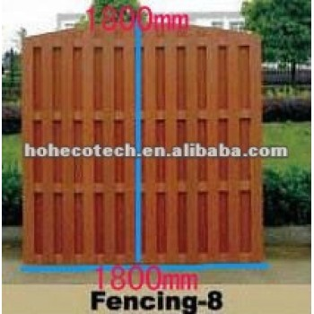 1800*1800mm hot sale water-proof wpc outdoor fence