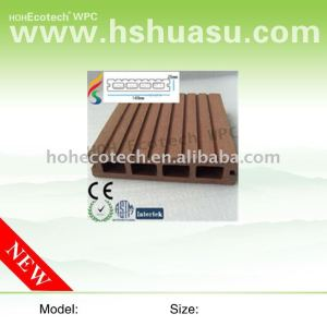 Decking de WPC, CE, ISO9001, ISO14001approved