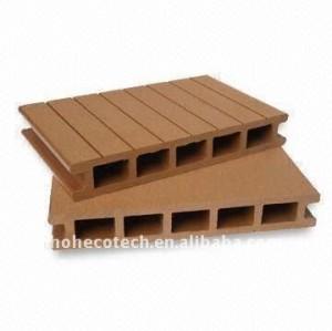 Grabación en relieve/lijado decking del wpc/suelo decking compuesto suelo de madera tablero decking compuesto