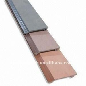 Decking composé de composé de panneaux de mur de wpc composé en plastique en bois de Decking de papier de mur de panneau de mur de la coutume-longueur 156S21