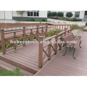 Eco-friendly (Wood plastic composite) wpc Decorative Outdoor Railing /stair railing/guard rails/garden railing