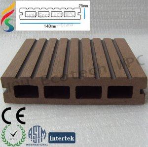 decking extérieur en plastique en bois respectueux de l'environnement du composé WPC