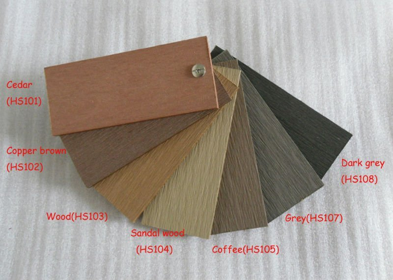 color chart after sanding
