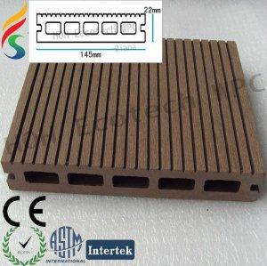 Decking composé en plastique en bois d'Unprecedent