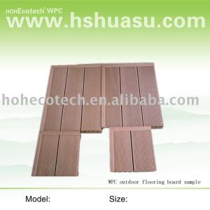 Wood plastic composite flooring