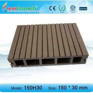 Best selling European standard Eco-friendly hollow wpc outdoor decking (with certificates)