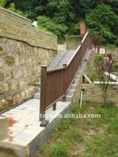 clôture composée en plastique du bois matérielle de wpc de banc/balustrade/poteau de wpc de plancher populaire de construction