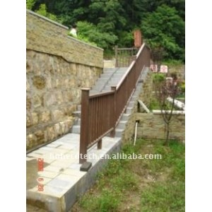 popular construction flooring material wood plastic composite wpc bench/railing/post wpc fencing