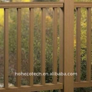 clôture de composé de la coutume-longueur WPC/balustrade composée de barrière extérieure balustrade WPC de balustrade