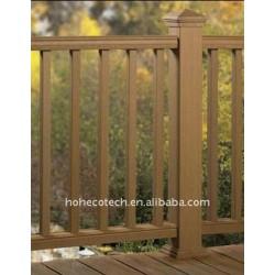 屋外の柵WPCの塀の合成の柵を囲うか、または柵で囲む習慣長さWPCの合成物