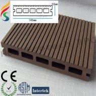 屋外のプラスチック木製のフロアーリングWPCのプロフィール