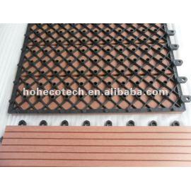 Easily installation Interlocking deck tile DIY wpc composite decking tile