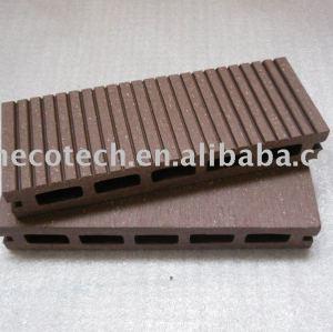Decking populaire de plancher de WPC (ISO9001, ISO14001, ROHS, CE)