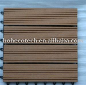 impermeável wood plastic composite decking telhas 30x30cm