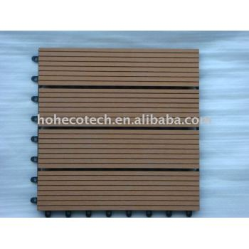 waterproof wood plastic composite decking tiles 30x30cm
