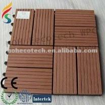 tile Outdoor wpc tile/ composite decking/ wood plastic DIY tile