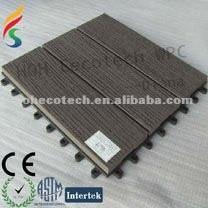 couvrez de tuiles la tuile en bois du plastique DIY de wpc de decking/composé extérieur de tuile