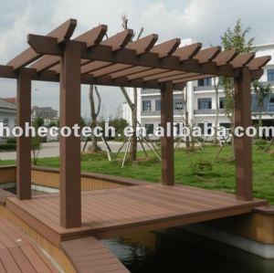 Wood plastic composite pergola/outdoor garden pergola/wpc pergolas/gazebo