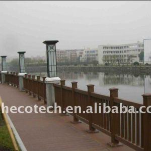 bem projeto wpc corrimão da ponte impermeável ponte dos trilhos de madeira composto plástico corrimão da escada