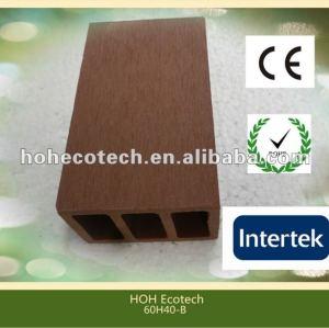 Poteau respectueux de l'environnement de barrière de wpc de vente chaude durable (preuve de l'eau, résistance UV, résistance à se décomposer et fente)