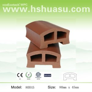 Eco-friendly wood plastic composite bridge handrails