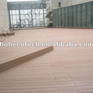Imperméabilisez le decking de wpc de decking de plate-forme imperméable de wpc/plancher composés en plastique en bois (CE, ROHS, ASTM, ISO9001, ISO14001, Intertek)