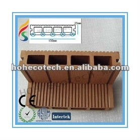 Synthetic Eco-friendly hollow wpc outdoor decking (with certificates)