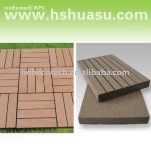 mattonelle composite di plastica di legno ecologiche pavimento/di decking