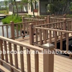 Non-peinture, plate-forme composée en plastique en bois imperméable de bois de construction de wpc de decking/decking de plancher