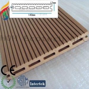 Decking de bonne qualité de WPC pour le plancher extérieur