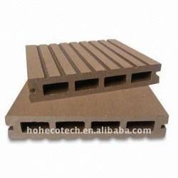 WPC材料の屋外のフロアーリングかDeckingは(セリウム、ROHS、ASTM、ISO9001、ISO14001、Intertek)屋外のDeckingに乗る