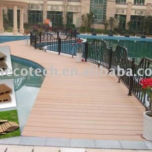 Wpc piano decking esterno/solido pavimento/legno composito di plastica