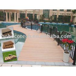 wpcの屋外のdeckingの床か固体床または木プラスチック合成物