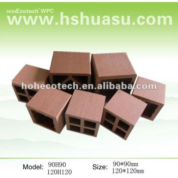 Wood plastic composite outdoor wpc fence post base