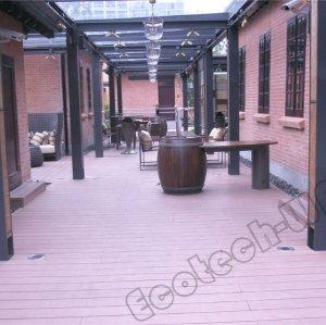 decking extérieur composé en plastique en bois