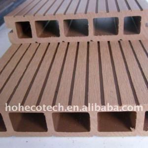 La garantía de calidad! Wpc suelo entarimado de madera decking compuesto plástico laminado suelo