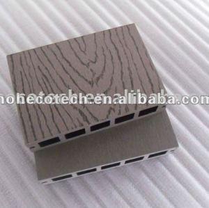 Goffratura superficie bamboo/legno decking di plastica di legno decking composito/pavimentazione bordo ponte wpc mattonelle di legno