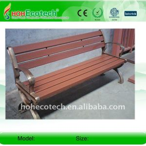 POpular outdoor leisure bench Park rest chairs wpc wood plastic composite bench